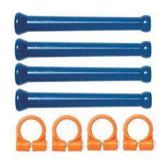 1/4x4x90mm hosszúszegmens cső és rögzítő gyűrű készlet (8 részes) - Loc-Line - 41475